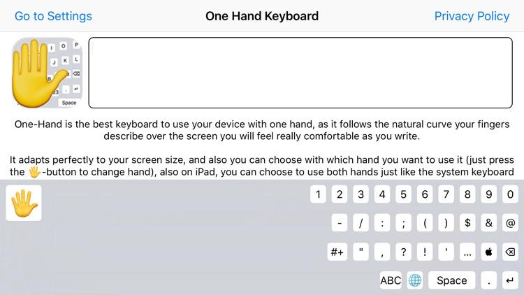 One-Hand Keyboard