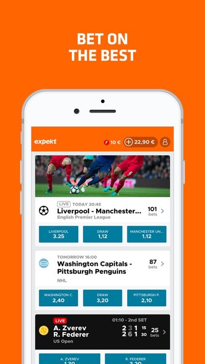 Expekt sports live betting trends sports betting 101 moneyline bet