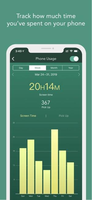 App phone usage trees