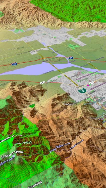 Scenic Map Western USA screenshot-4