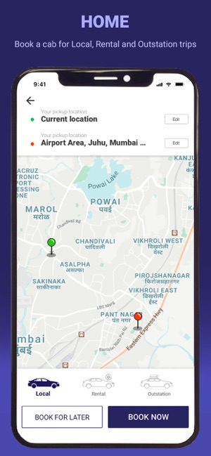 Meru Cabs Local And Outstation On The App Store