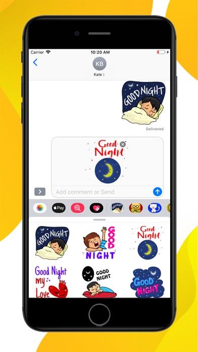 Good Night Sweet Stickers screenshot 2
