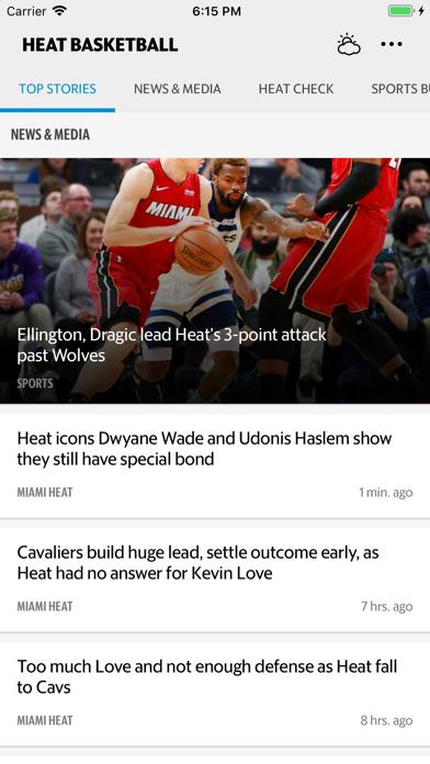 News for Heat Basketball screenshot one