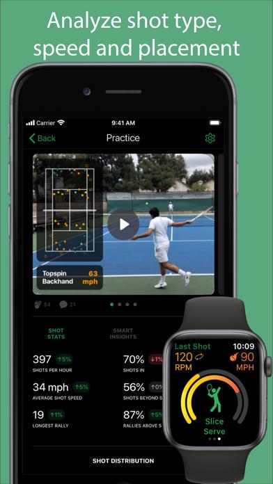 Screenshot #1 pour SwingVision: The Tennis App