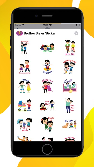 Brother Sister Stickers screenshot 1