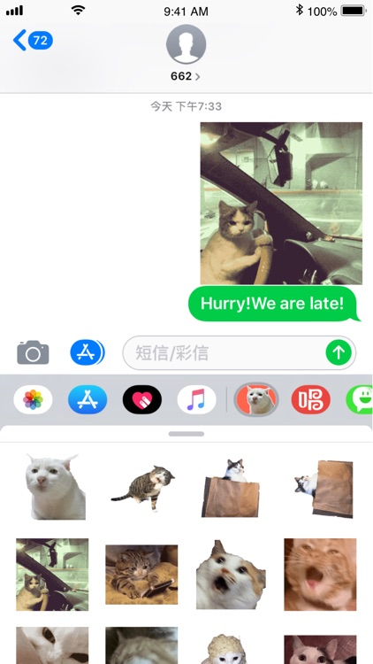 Cat Meme Stickers screenshot-2