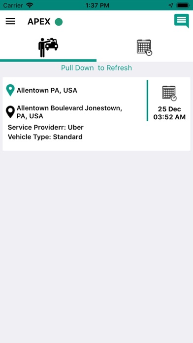 APEX Driver Screenshot