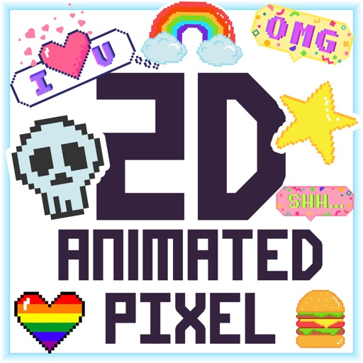 2D Animated Pixel Stickers
