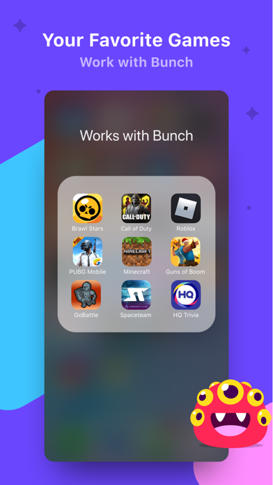 Bunch Group Video Chat & Games Screenshot on iOS