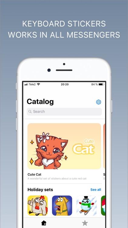 Sticker sets - Emoji keyboard screenshot-0