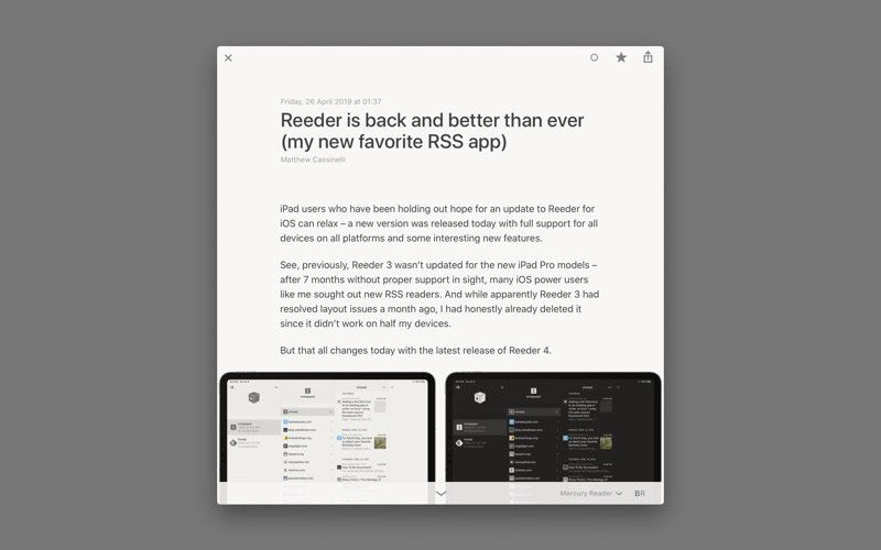 Reeder Screenshot