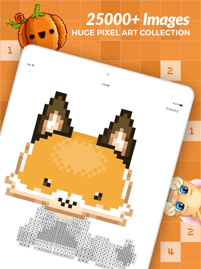 Color By Number Pixel Art On The App Store
