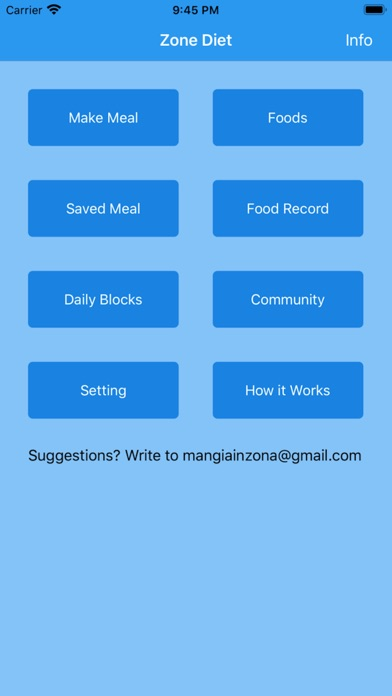 Zone Diet Simple Screenshots