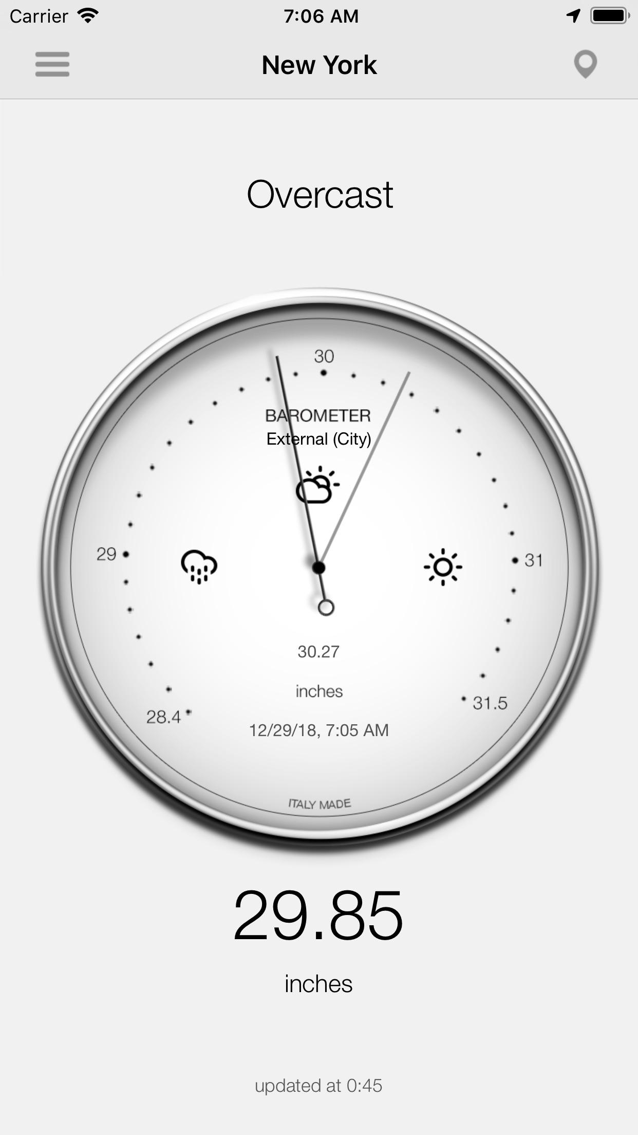 Barometer-Atmospheric pressure Screenshot