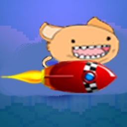 Flappy Rocket Cat - he's got a rocket to go after the bird!