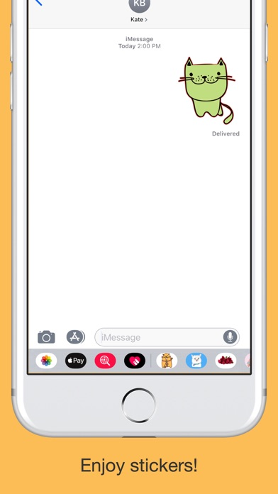 Cute cats - hand drawn emoji screenshot 5