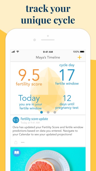 Ovia Fertility Tracker & Ovulation Calculator screenshot