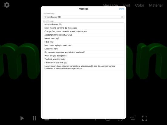 Banner 3D - scrolling text app screenshot 14