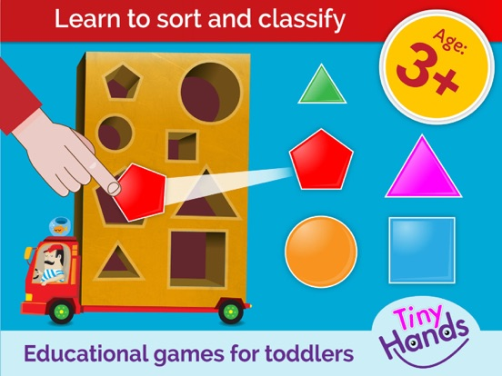 TinyHands Sorting 3, Educational puzzle Games for kindergarten children and preschool kids, Age 3+, learn: colors shapes counting screenshot