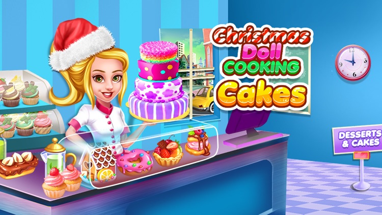 Christmas Doll Cooking Cakes