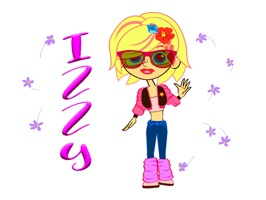 Izzy Animated Girl Stickers