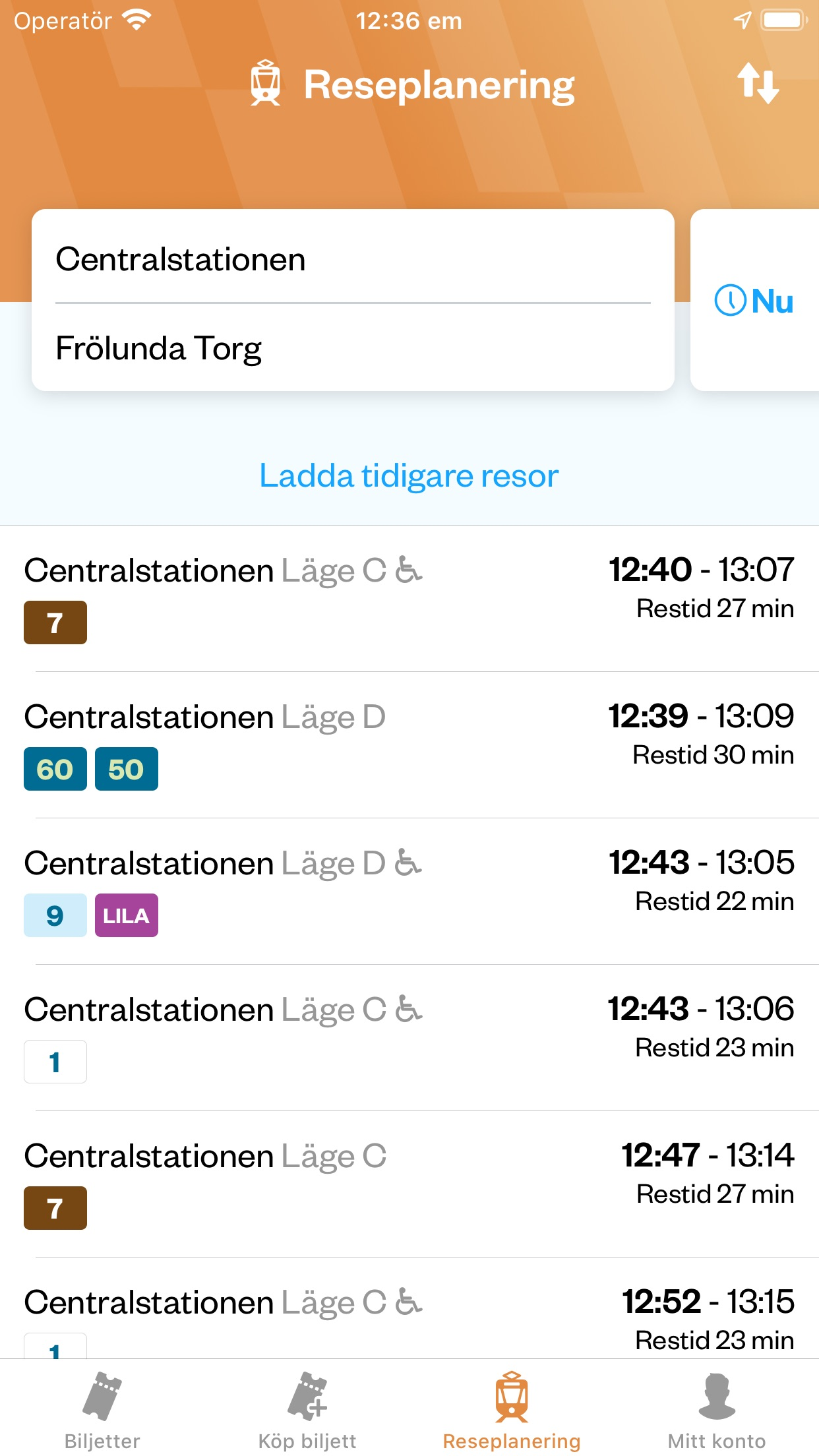 Västtrafik To Go Screenshot