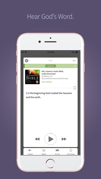NIV Bible App + screenshot two