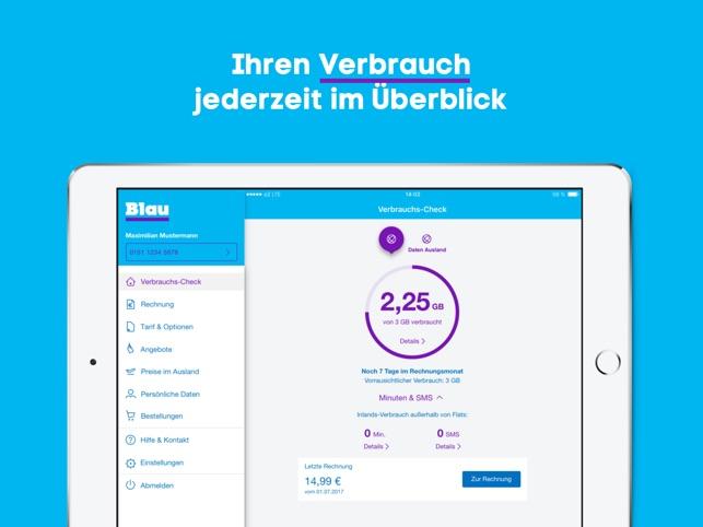Blau Sim Karte Freischalten.Mein Blau Im App Store