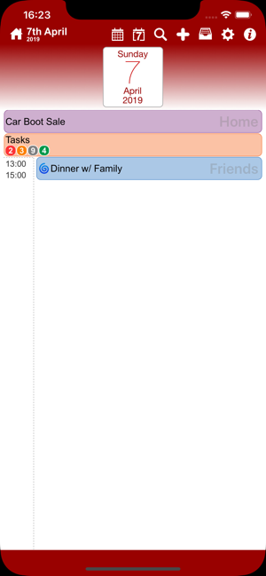 ‎Events & Diary: myCal PRO Screenshot