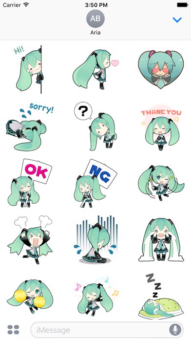Happy Miku And Gang HD Sticker screenshot 2