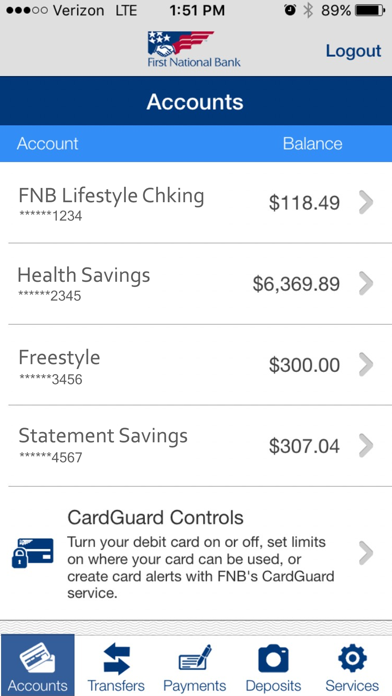 FNB Direct by First National Bank of Pennsylvania (iOS
