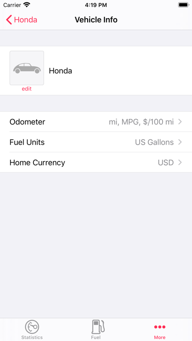 Road Trip Lite • MPG and Mileage Tracking screenshot