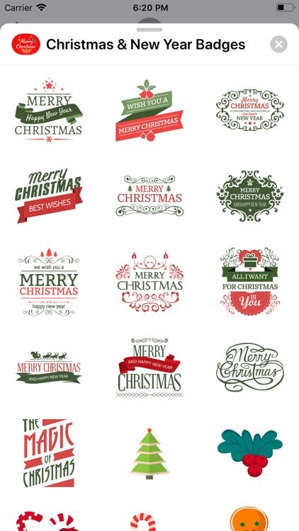 Christmas & New Year Badges screenshot-6