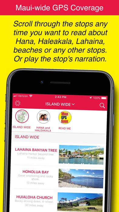 Maui GPS Guide Screenshot