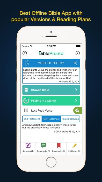 Bible Pronto - Holy Bible App by CouncilSoft Inc