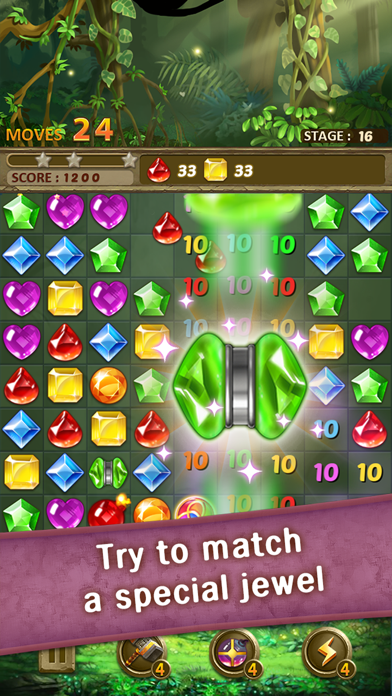Jewels Jungle : Match 3 Puzzle screenshot 2