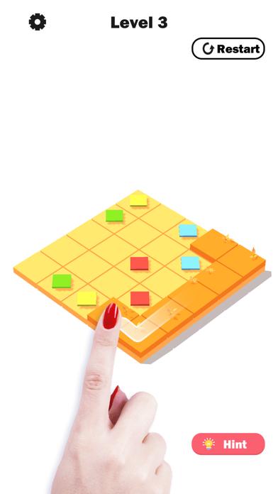 Flower Link -Color Fill Puzzle screenshot 1