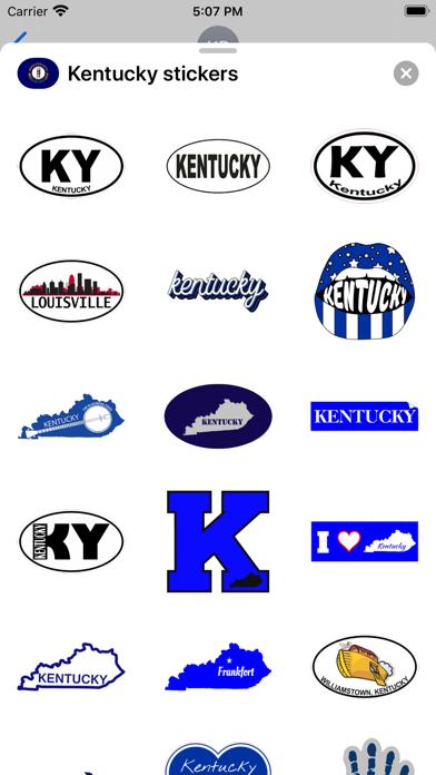 Kentucky emojis - USA stickers screenshot 1