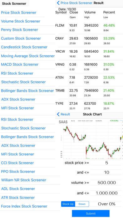 Stock Screener Pro - Technical Screenshot