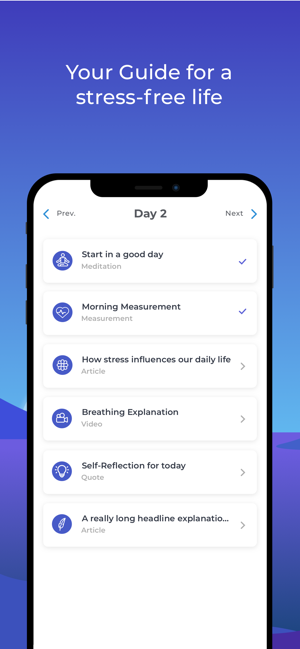 ‎Stress Guide: HRV & Meditation Screenshot