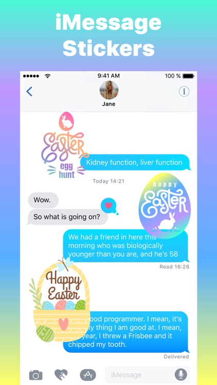 Happy Egg Hunt Easter Stickers