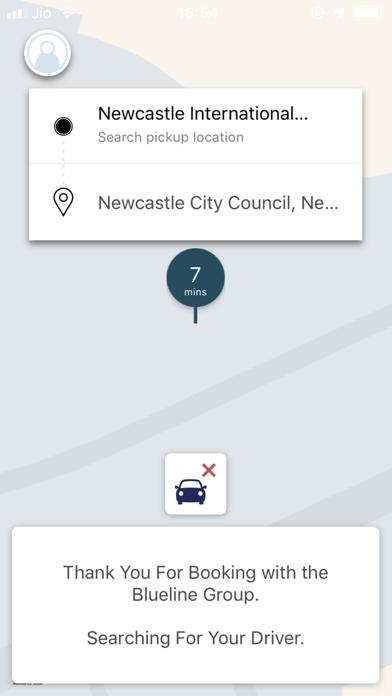 Blueline Taxis screenshot three