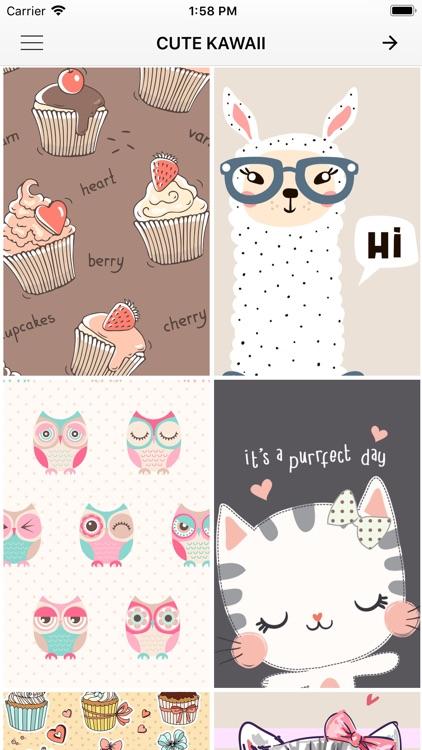 Cute Kawaii Wallpapers By Andjelija Blagojevic