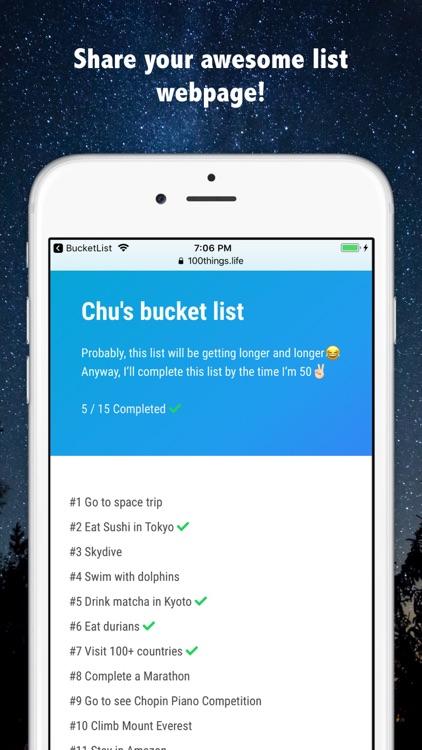 Bucket List Maker