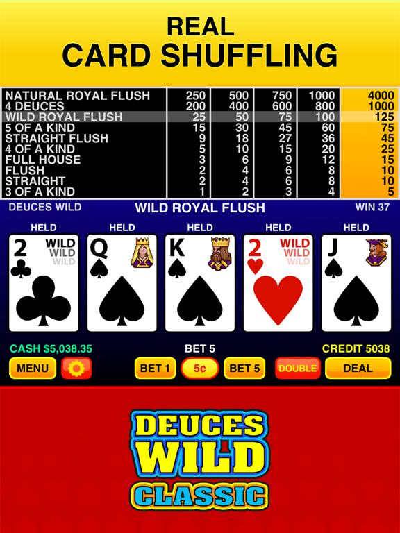 Screenshot #6 pour Deuces Wild Casino Video Poker