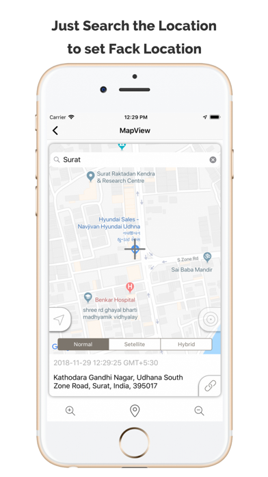 Screenshot for Fake GPS Location App in United States App Store