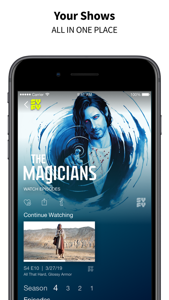 SYFY App for iPhone - Free Download SYFY for iPad & iPhone