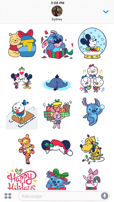 Disney Stickers: Holiday Cheer Screenshot