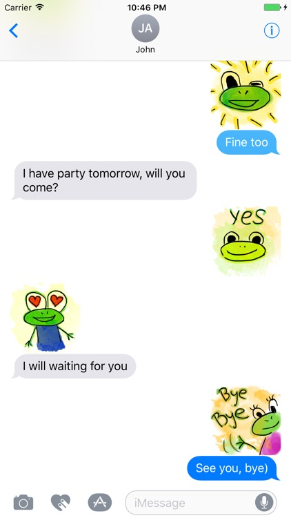 Funny Frogs Stickers