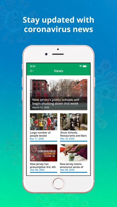 NJ COVID 19 Screenshot on iOS